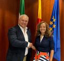 Reunión de nuestro Presidente con la Viceconsejera de Educación de la Junta de Andalucía